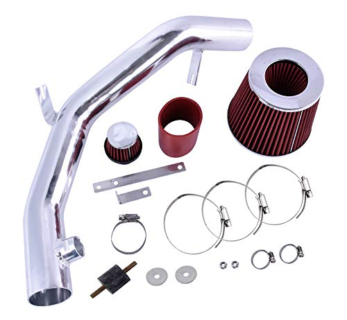 ACUMSTE Cold Air Intake Kit with Red Filter Fit for 99-04 VW Golf Jetta MK4 VR6 GTI 2.8L V6