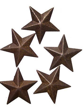 (Ultra Mini Primitive Rusted Barn Stars-6 Packages of 5 for 30 Mini Stars)