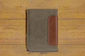 Durables Sleeve for Kindle Paperwhite by DODOcase - Sage Canvas/Leather - DD011006