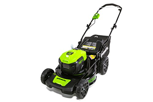 GreenWorks MO40L02 G-MAX 40V 21' Self-Propelled Dual Port Mower, Battery and Charger Not Included