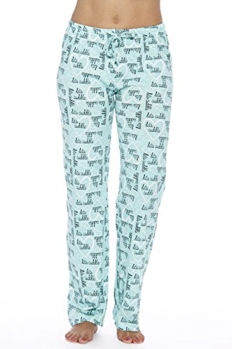 6324-10053-XL Just Love Women Pajama Pants / Sleepwear, Cuddle Me Mint, X-Large -