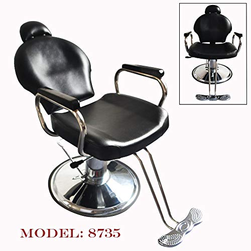 (Marketworldcup Reclining Hydraulic Barber Chair Seat Hair Stylist Station Salon Spa Beauty Shop)