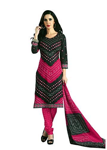 - Bandhej Printed Pure Cotton Salwar Kameez Dress Indian Ready to wear