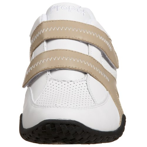 Propet Womens W3700 Vigor Sneaker Bianco / Sabbia