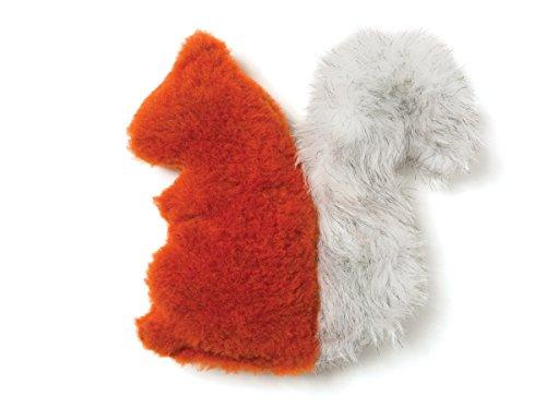 - West Paw Design Sequoia Squirrel Squeak Toy for Dogs, Pumpkin