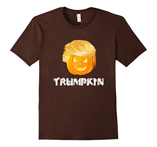 Last Minute Scary Costume Ideas (Mens Funny Trumpkin Shirt | Last Minute Halloween Costume Idea 3XL Brown)