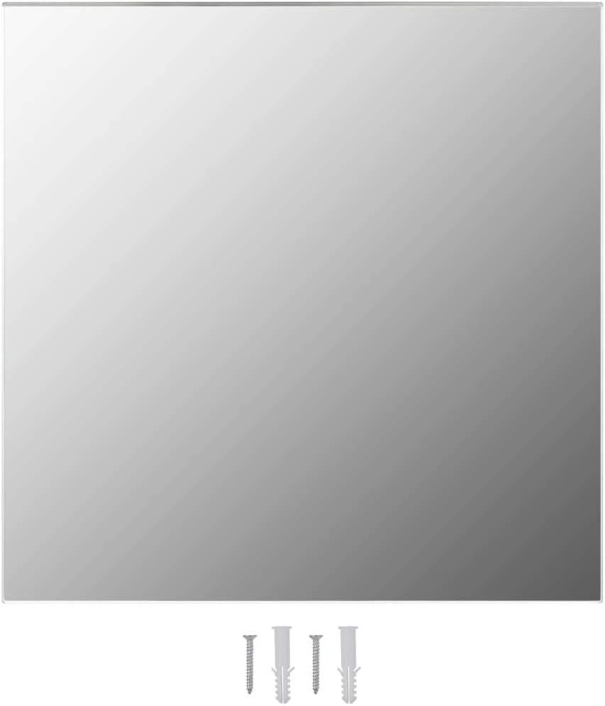 FAMIROSA Specchio da Parete 50x50 cm Quadrato in Vetro
