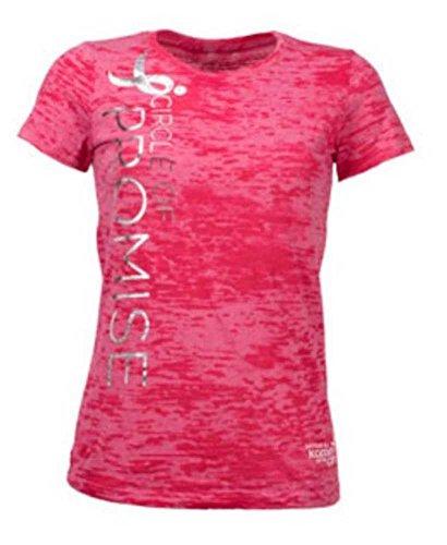 Susan G Komen Circle of Promise Women's T-Shirt. Burn Out Fabric Pink KOMELT0077