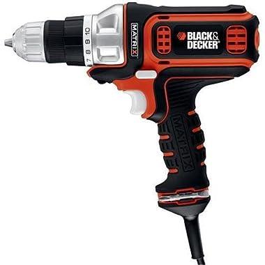 Black & Decker BDEDMT 4 Amp Corded Drill / Driver - Driver Drill - 0.38  Chuck (Black & DeckerBDEDMT )