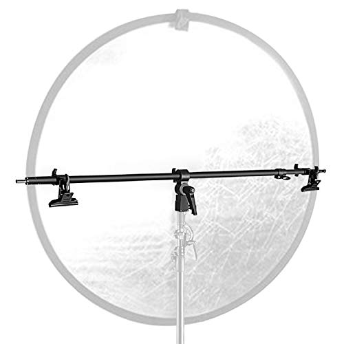 Neewer Studio Video Reflector Holder Arm - 39.7 inches/101 Centimeters Retractable Telescopic Crossbar with 2 Pieces Clamps for Light Stand, Reflectors, Backdrops for Product Portrait Photography