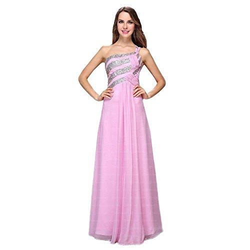 Pink Ital bei Festamo Für Kleid Damen Maxi Ball Design nY4qxw8U