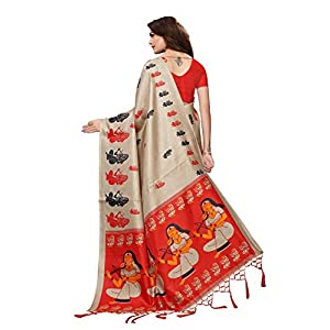 Anni Designer Indian Women's Khadi Silk Saree with Blouse Piece