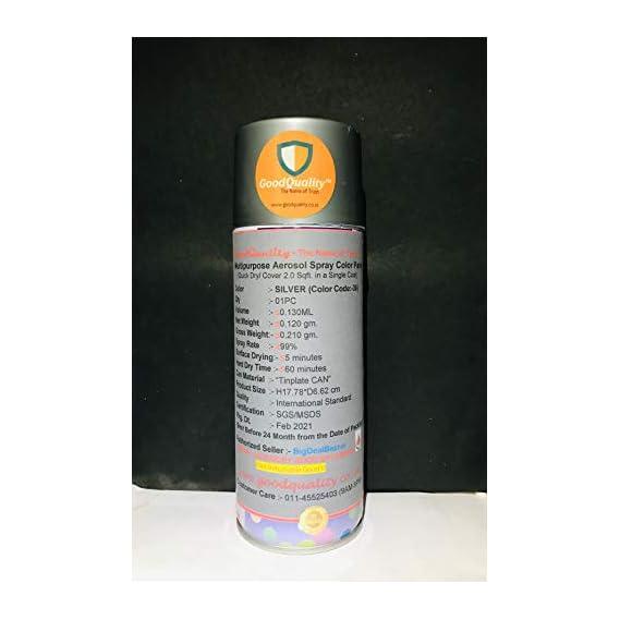 f22 F1 Aerosol Multi Purpose Spray Paint, 180 ml (Silver)