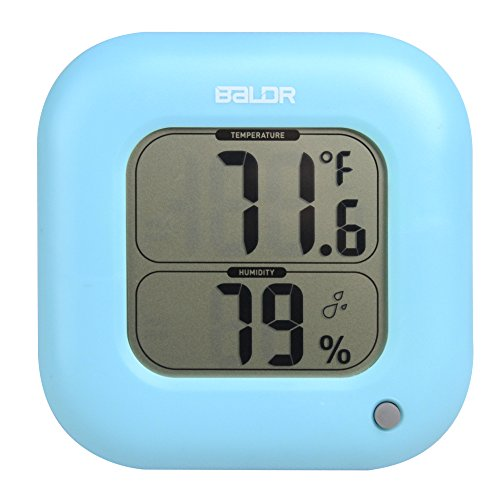 Thermometer Giant Classroom (BALDR FBA_B0323H Square Thermometer and Hygrometer, Blue)