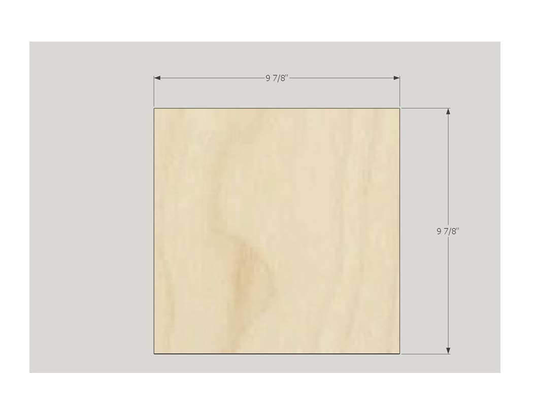 3 mm 1/8'' x 10'' x 10'' Premium Baltic Birch Plywood, Box of 45 B/BB Birch Veneer Sheets, Perfect for Laser, CNC Cutting and Wood Burning and DIY Projects one Clear face by The Kitchen Zone