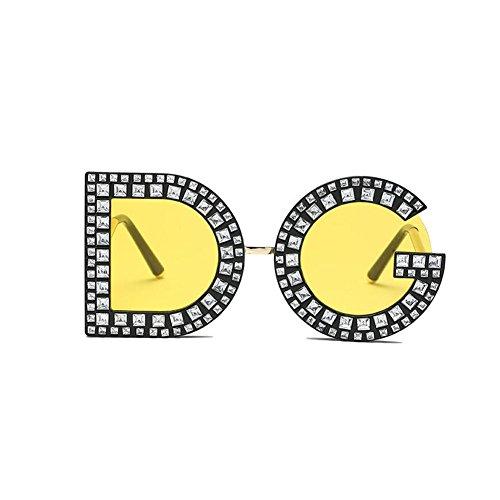 Lunettes Soleil De Mode Voyager GAOJUAN Plage Dg Yellow Protection Lunettes De Diamant Unisexe Soleil Lunettes UV400 Nouvelle Soleil Vintage Conduite Adapté Personnalité Lunettes Lettre De BIIzgUwq