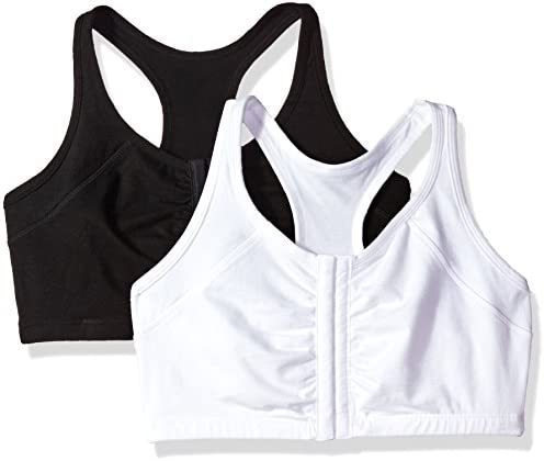 Fruit of the Loom Women's Front Close Racerback (Pack of two)
