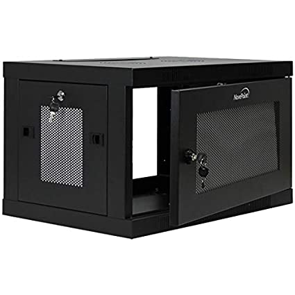 NavePoint 6U Wall Mount Rack Enclosure Server Cabinet 16.5u0026quot; Deep,  Switch Depth Perforated