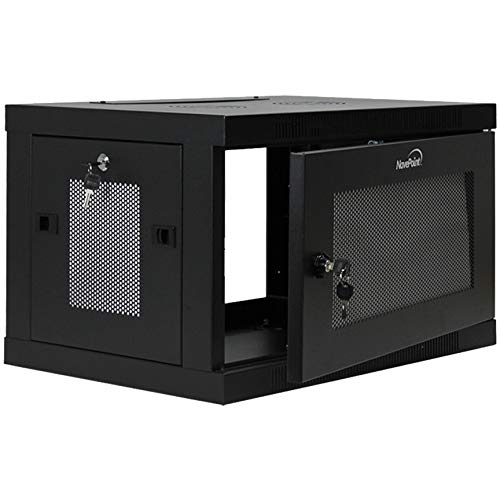 NavePoint 6U Wall Mount Rack Enclosure Server Cabinet 16.5