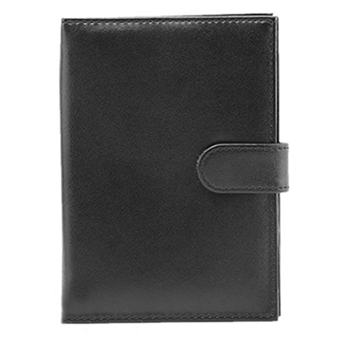 Manka Vesa Travel Passport Holder Wallet Driving License Multifunction Purse Card Case Organizer Black