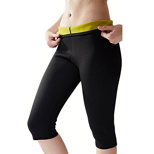 Women's Slimming Pants Neoprene for Weight Loss Calorie Burning Thigh Fat Burning Sweat Sauna Capris Leggings Shapewear Autumn Winter M
