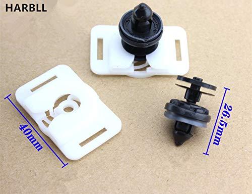 Fastener & Clip Huscus 10PCS Door Panel Liner Skirt Trim Strip Buckle Clip for Ford Focus Mondeo Plastic Fasteners