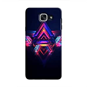 Cover It Up - Abstract Red&Blue Galaxy J7 Prime Hard Case