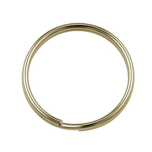 25 mm chapado en oro 10 unidades anillas de llavero: Amazon ...