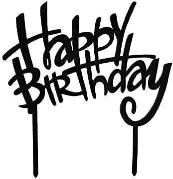 Amazon.com: Decoración para tarta de feliz cumpleaños, color ...