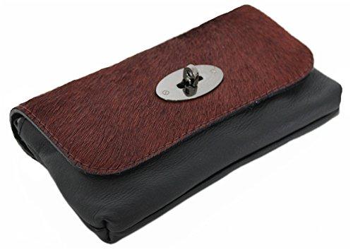 à Kuhflecken pour Leatherworld Sac femme Noir à 4250736212468 porter l'épaule bordeaux qxwfxt