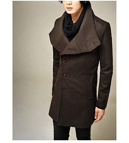 Men Kaffee Jacket Coat Men's Elegant Winter Long Jacket Men Long Apparel Mens Huixin Windbreaker Parka Winter Winter Overcoat Section PSwqInU