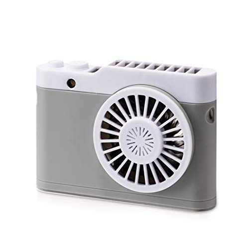 Portable Multi-Functional Mini Rechargeable Fan Powered Ultra-Thin Handheld Creative Air Conditioning Fan, Battery Operated Summer Personal Pocket Fan, Lanyard Fan Casual Air Ice ()