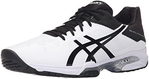 ASICS Men's Gel Solution Speed 3 Tennis Shoe, WhiteBlack