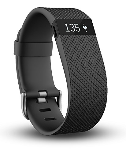 Fitbit Charge HR Wireless Activity Wristband Black Large
