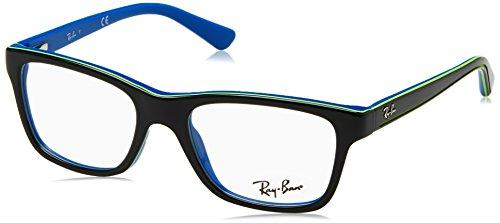 Ray-Ban Jr. Eyeglasses RY1536 3600 Top Dark Grey On Blue Demo Lens 48 16 - Lenses Ray Demo Ban