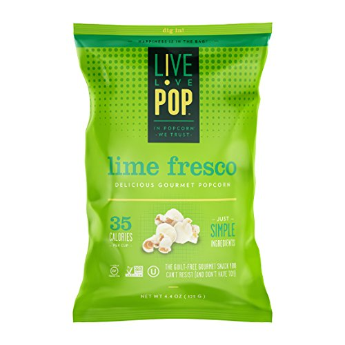 Live Love Pop Lime Fresco Popcorn 4.4 oz. (12 pack) by Live Love Pop
