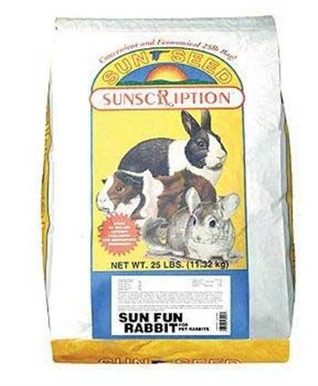 Sun Seed Company Sun Fun Rabbit Food 25lb by Sun Seed