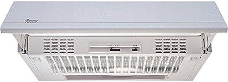Teka XT1 892 - Campana (Canalizado, 272 m³/h, F, Built-under, Halógeno, Acero inoxidable, color blanco): Amazon.es: Grandes electrodomésticos