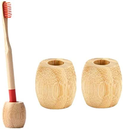 1 Reusable Bamboo Toothbrush Holder Wooden Toothbrush Bathroom Stand Environmental Toothbrush Accessory Personalize