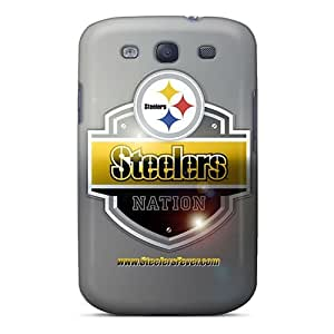 Luoxunmobile333 Scratch-free Phone Cases For Galaxy S3- Retail Packaging - Pittsburgh Steelers