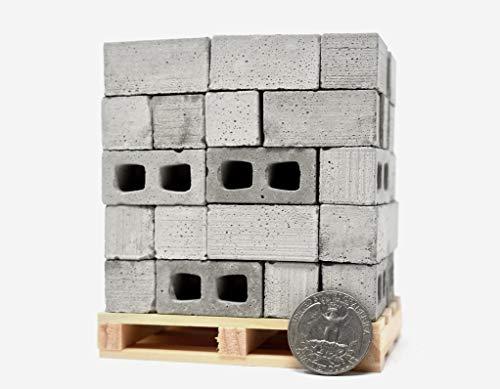 1:12 Scale Miniature Cinder Blocks - 50pk + - Block Miniature Cinder