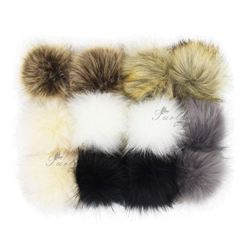 Key Chains - Furling 12pcs Pom Poms DIY Wholesale 10cm Soft Faux Fox Fur Pom Pom Ball for Knitting Hat Accessories Keychain Accessory - by Mct12-1 PCs -  MLLDJ_4D6227C4