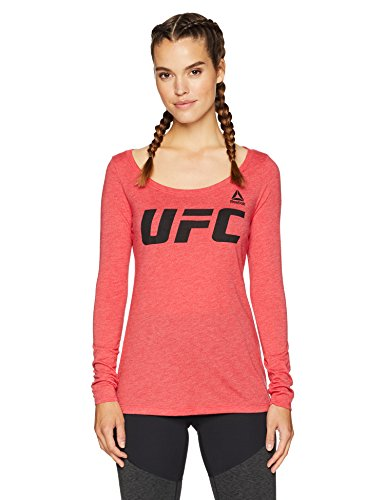 UFC Essentials Logo Long Sleeve Tri Blend Scoop Neck Tee – DiZiSports Store