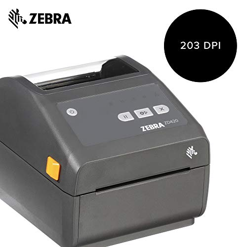Zebra - ZD420d Direct Thermal Desktop Printer for Labels and Barcodes - Print Width 4 in - 203 dpi - Interface: USB - ZD42042-D01000EZ by Zebra Technologies (Image #1)