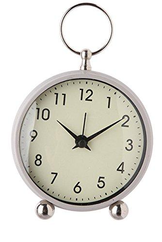 bd1fa1051a8 Classic Coloured Round Bedside Alarm Clock Cream  Amazon.co.uk  Kitchen    Home