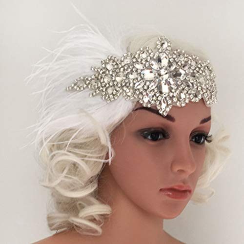 1 Piece Feather Head Bands For Women Ladies For home Party Vintage Wedding
