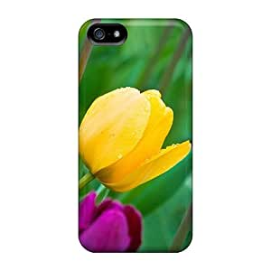 Hot Style JQdzwGy7722FUZai Protective Case Cover For Iphone5/5s(wet Tulips)