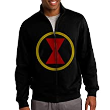 Black Widow Comic Logo Men's Full-zip Hoodie Jacket