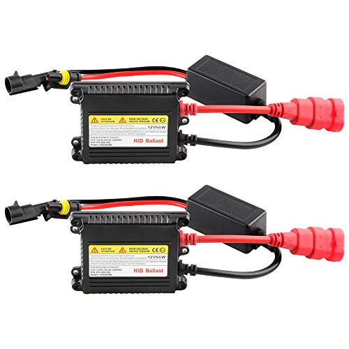 2Pcs Slim HID Ballast 55W 12V Car HID Xenon Ballast Replacement for H1 H3 H7 H8 H9 H11 9005 9006 H4 Headlight Xenon Lamp Bulb