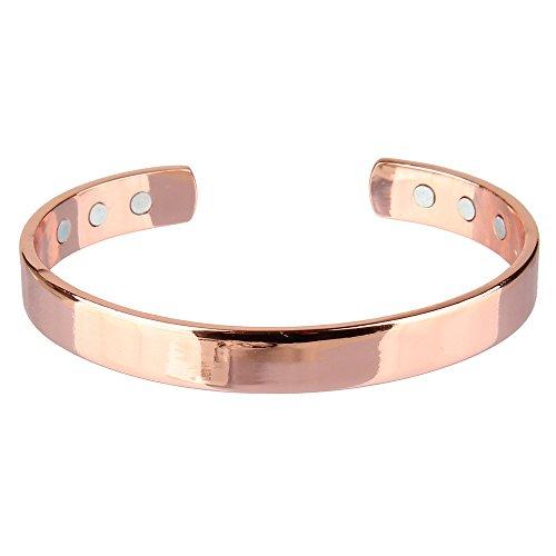 Plated Unisex Bracelets - Bewish 19CM Copper Magnetic Function Bracelet Bangle Unisex Worn for Arthritis Pain Relief